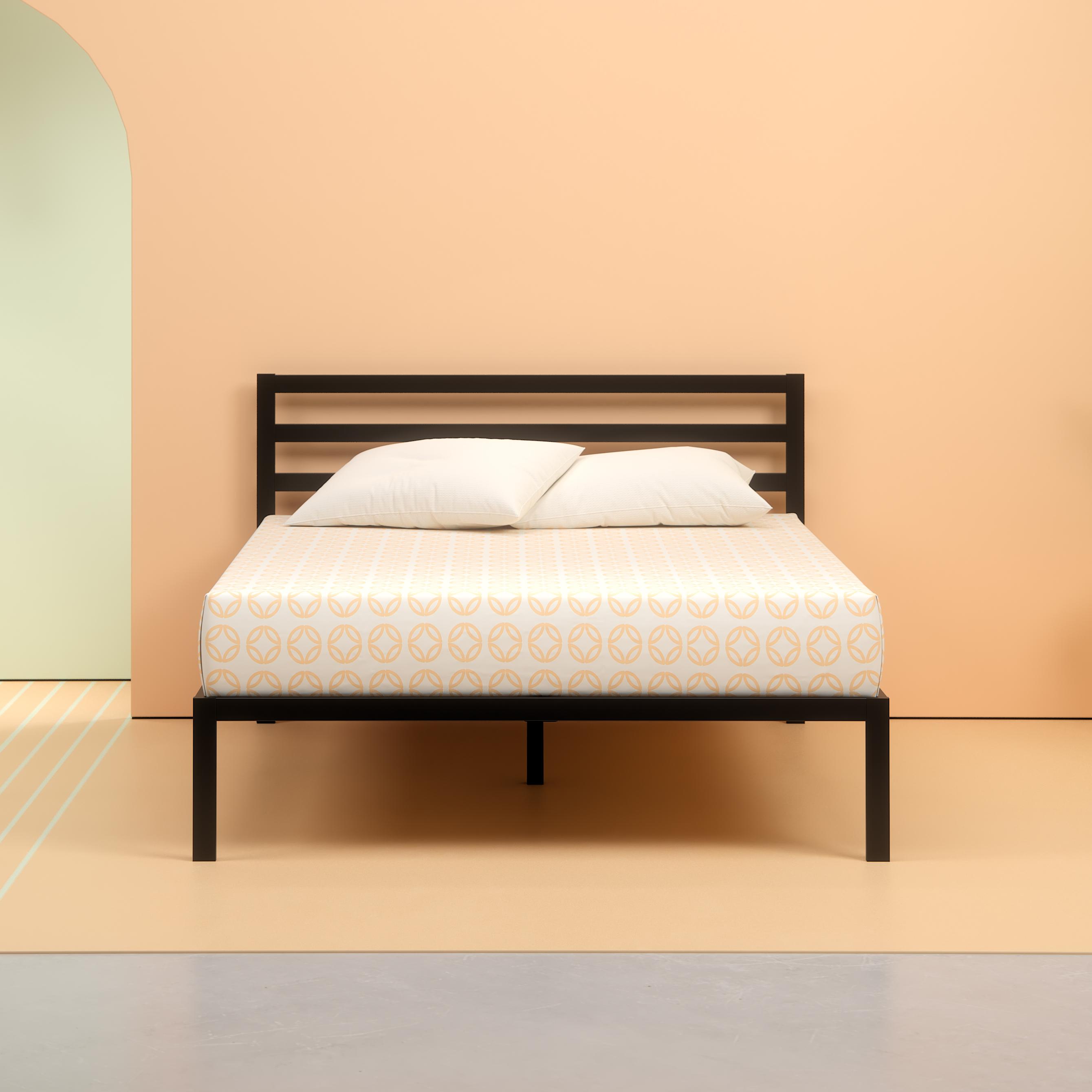 "Zinus 14"" Metal Platform Bed with Headboard, Multiple Sizes"