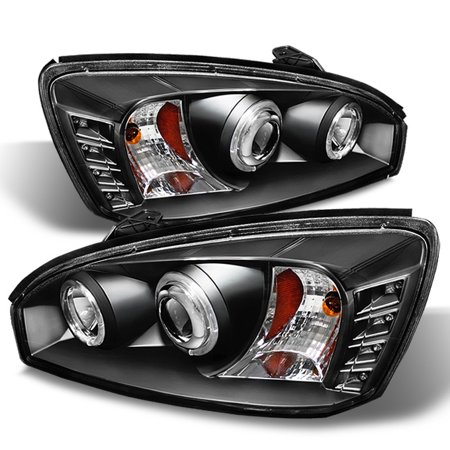 - Fits Black 04-08 Chevy Malibu Halo Projector LED Headlights Lamps Left+Right