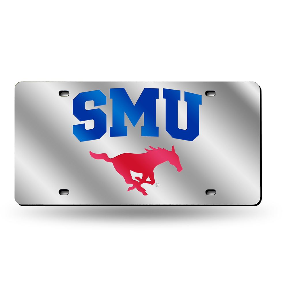 Southern Methodist Mustangs NCAA Laser Cut License Plate Tag