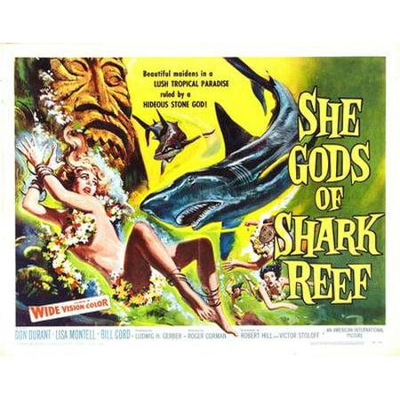 Rainbow Reef Shark - She Gods Of Shark Reef Movie Poster Entertainment Decor