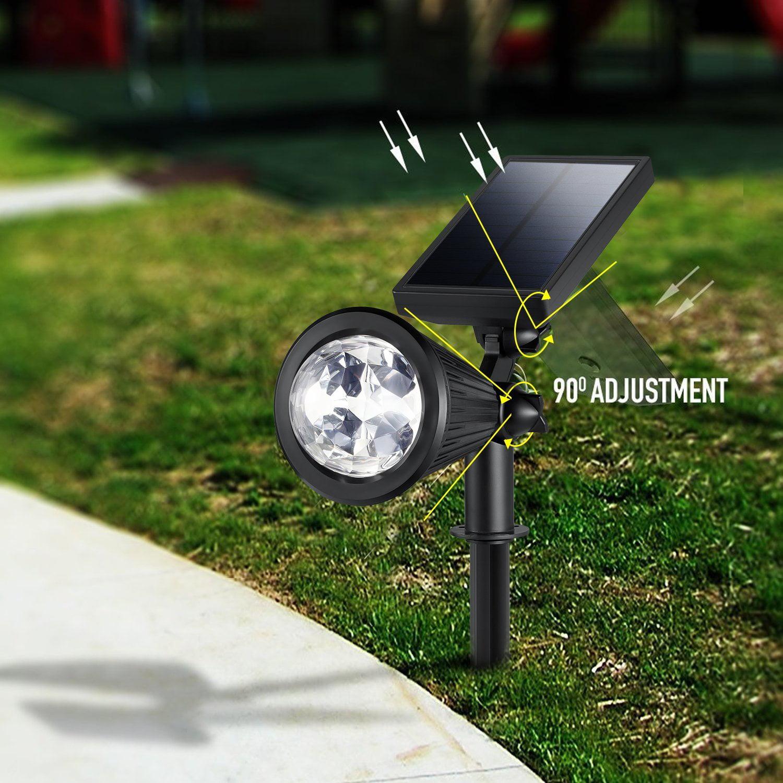 Creative Design Led Outdoor Solar Spotlight Multi Colored 4