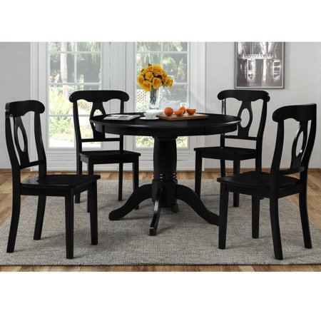 Dorel living aubrey 5 piece traditional height pedestal for 5 piece living room table set