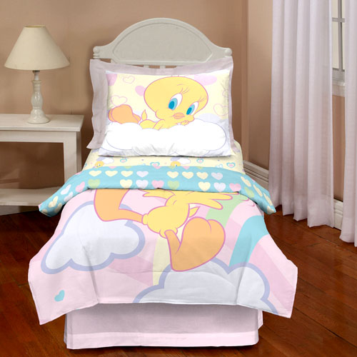 Looney tunes tweety toddler 4 piece bedding set walmart com