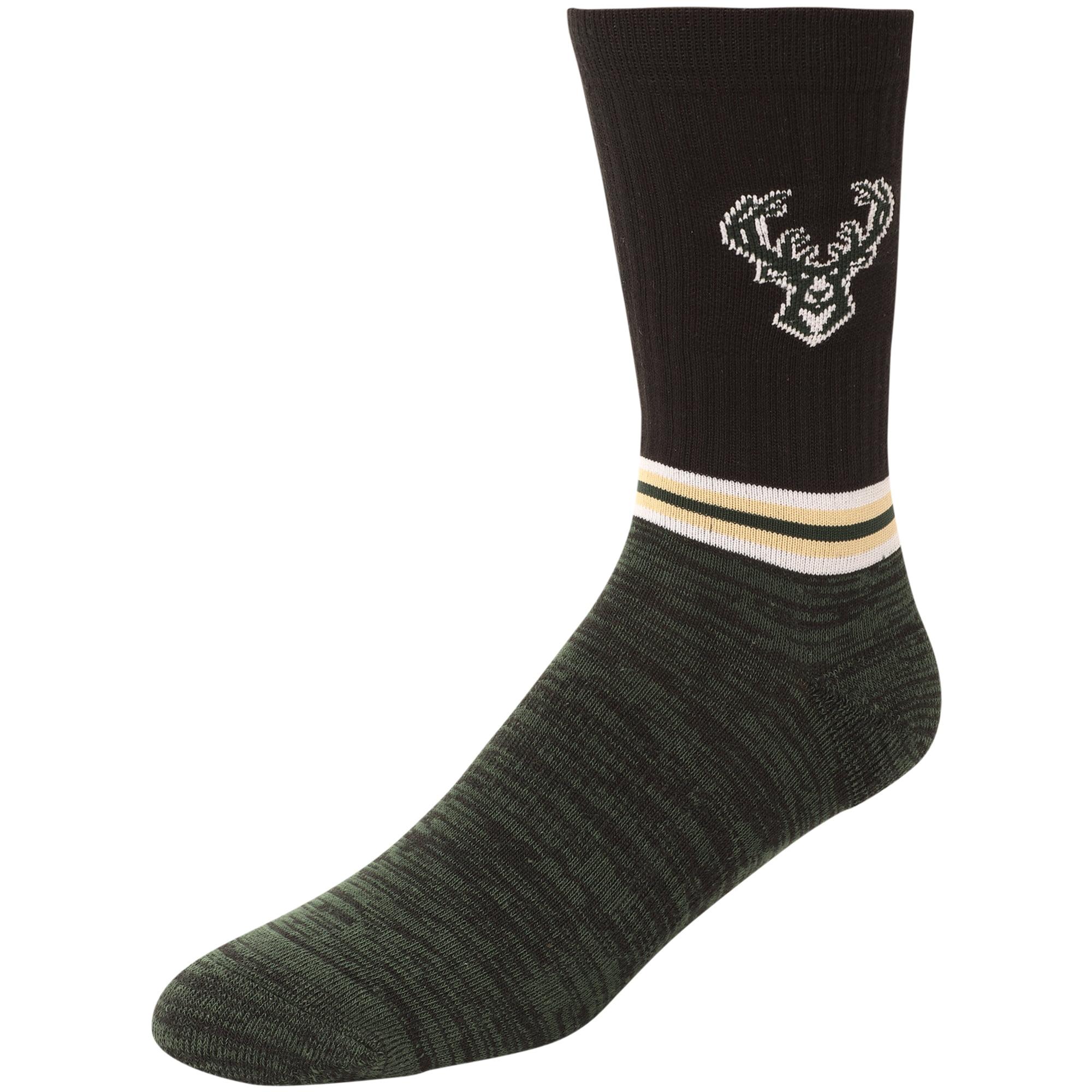 Milwaukee Bucks Block Crew Socks - L