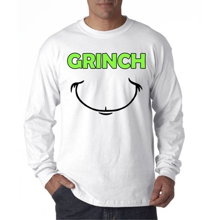 New Way 605 - Unisex Long-Sleeve T-Shirt Grinch Smile Christmas - Grinch Clothes