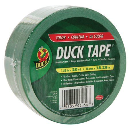 Duck Brand Duct Tape  1 88 In  X 20 Yds   Green