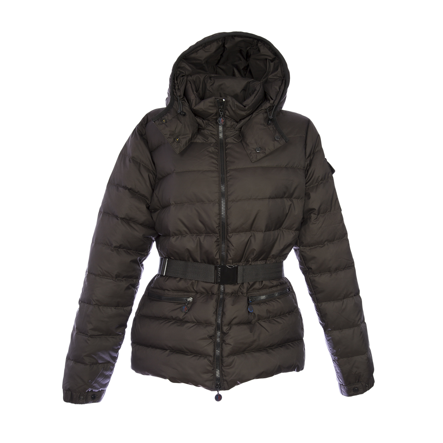 Moncler Women's Bea Down Belted Puffer Coat, 5/X-Large, Brown