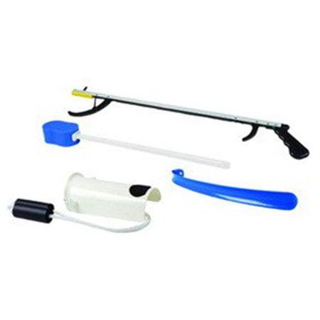 Fabrication Enterprises 86-0071 Hip Kit No 1 - 32 in. Reacher, Contoured Sponge, Sock & Stocking Aid, 18 in. Plastic Shoehorn ()