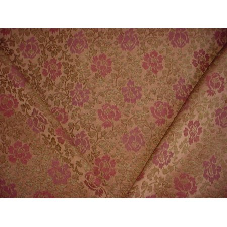 142H14 - Copper / Sienna Red / Sage Floral Chenille Upholstery Drapery Fabric - By the Yard