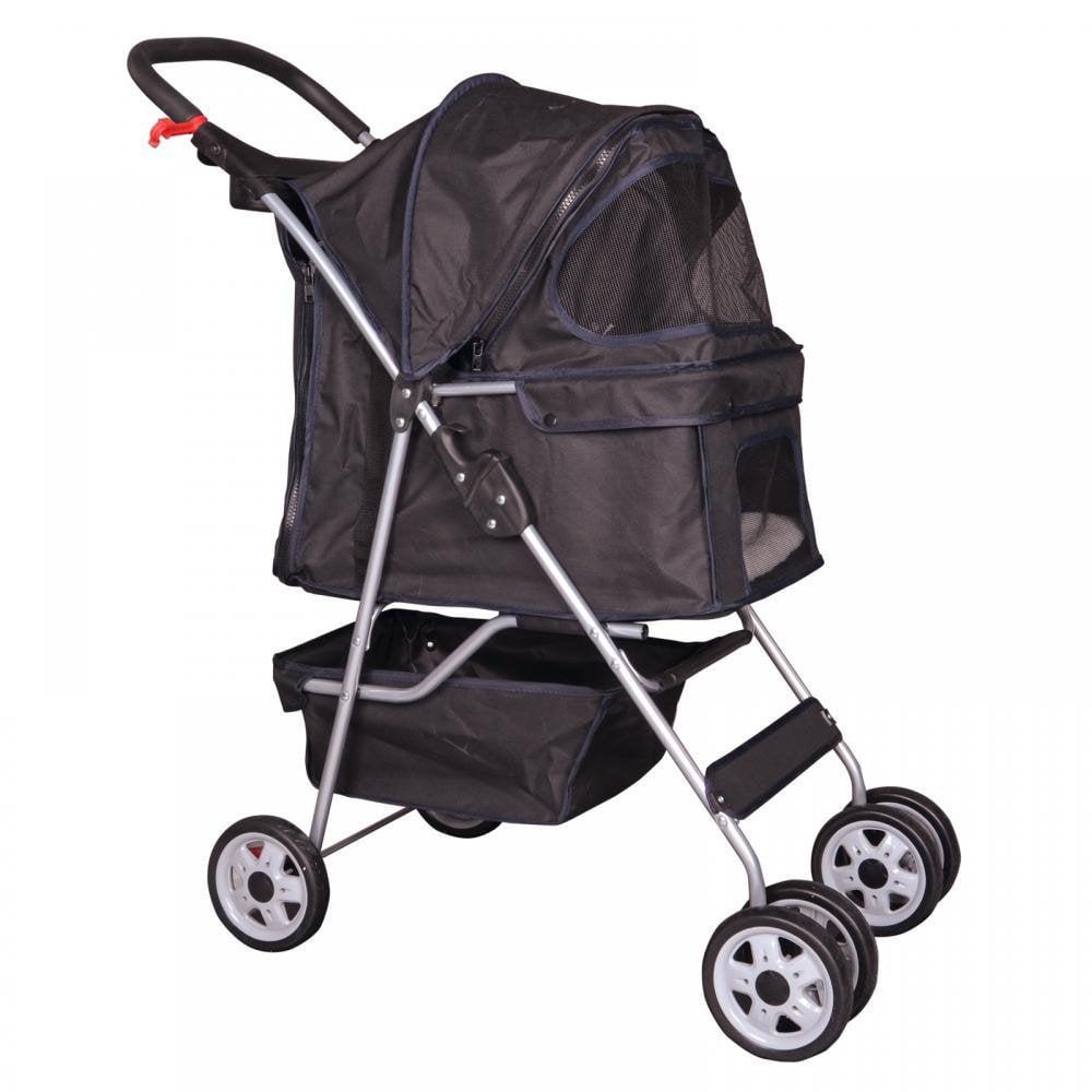 4 Wheels Pet Stroller Cat Dog Cage Stroller Travel Folding Carrier 5 Color 04... by