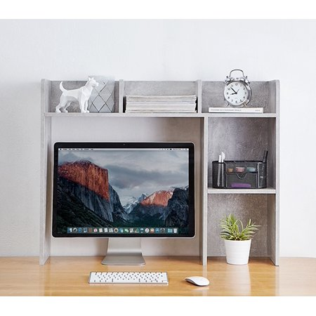 Classic Desk Bookshelf - Marble Gray