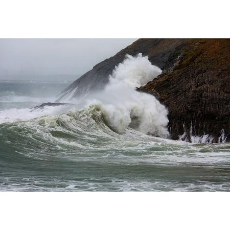 Seaside Rocks - LAMINATED POSTER Atlantic Sea Ocean Seaside Energy Rock Waves Poster 24x16 Adhesive Decal