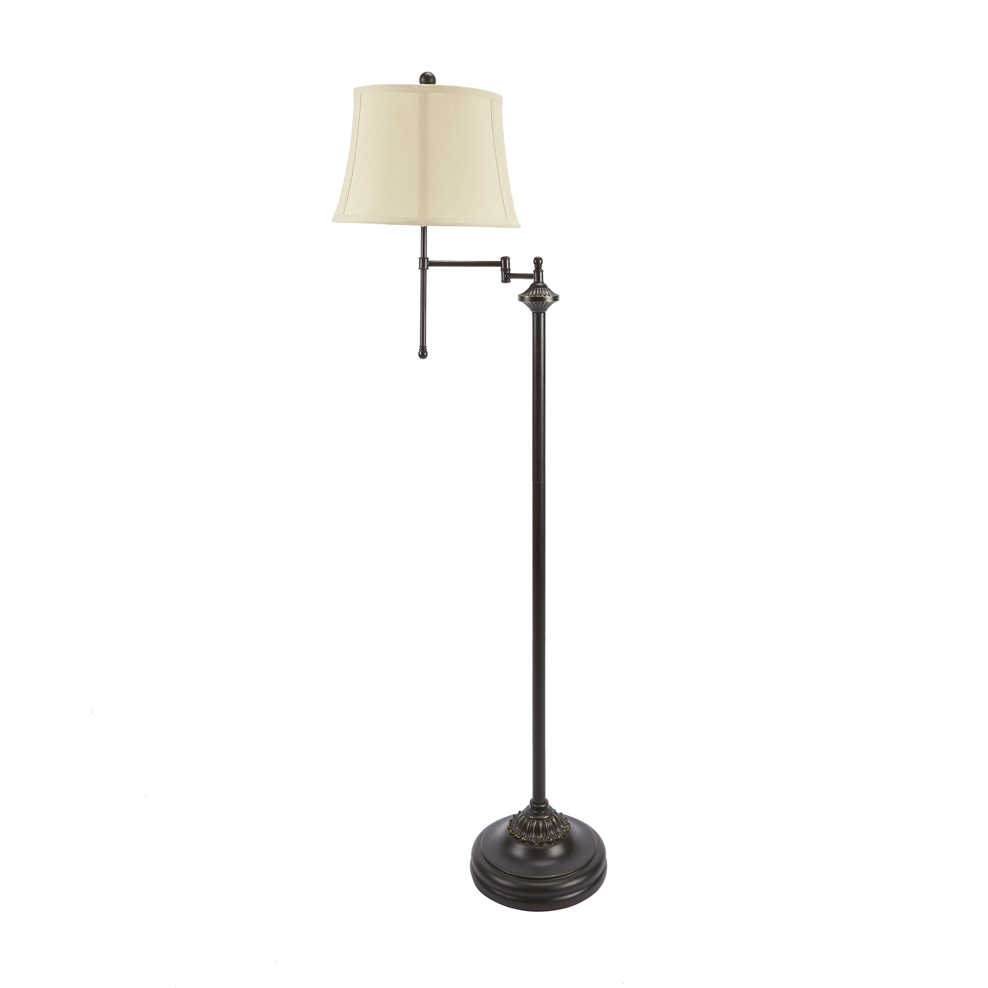 "Click here to buy Better Homes and Gardens 59"" Swing Arm Floor Lamp, CFL Bulb Included by Cheyenne Lamps."