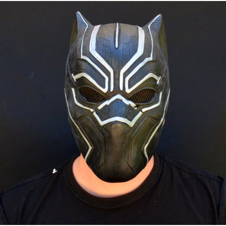 Halloween Comicon Mask Latex Black Panther Superhero 2018 Costume Mask - Halloween Costume Superhero