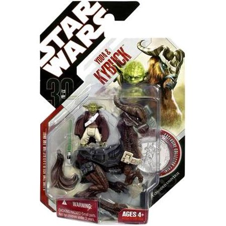 Star Wars 30Th Anniversary 2007 Wave 5 Yoda   Kybuck Action Figure 2 Pack