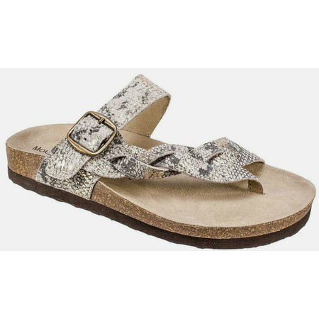 - Mountain Sole 710-MS22715 Hollie Gold Exotic Braided Leather Slip On Thong Sandals Size 9M