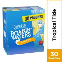 Capri Sun Roarin' Waters Tropical Tide Naturally Flavored Water Beverage with other natural flavors, 30 ct. Box