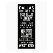 Uptown Artworks Dallas by Uptown Artworks Framed Textual Art on Wrapped Canvas