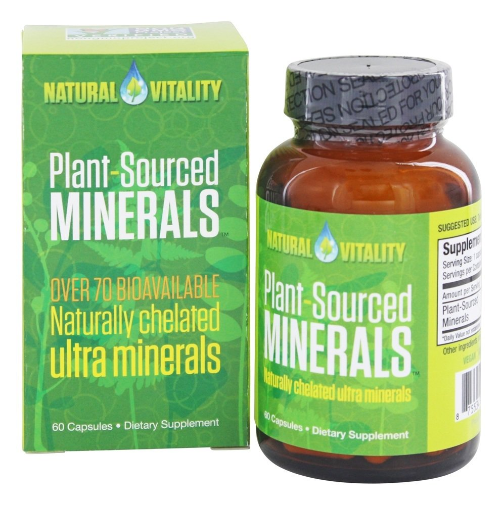 Natural Vitality Plant-Sourced Minerals, 60.0 CT
