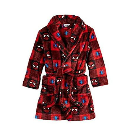 Spider-Man Toddler Boys' Plush Robe Pajama Spidey Super Hero (5t)