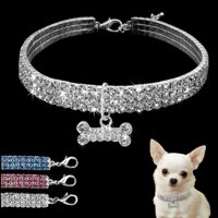 Dog Cat Collar Personalized Rhinestone Flower Pet Leash Puppy Cat Necklace