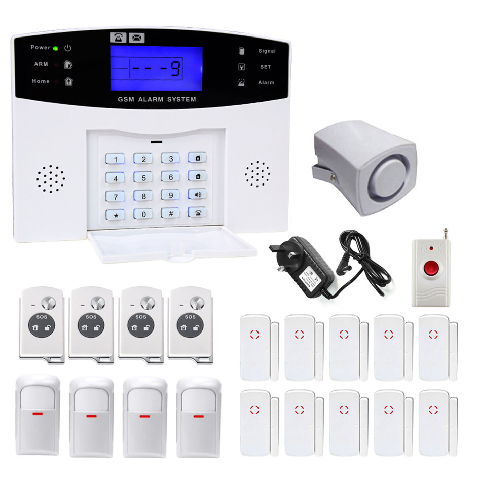 2017 Updated Wireless GSM Home Security Burglar Alarm Sys...