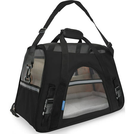 Faux Leather Pet Carrier (Paws & Pals Paws & Pals Soft Sided Cat/Dog Pet Carrier, 2018 Design, FAA Airline)