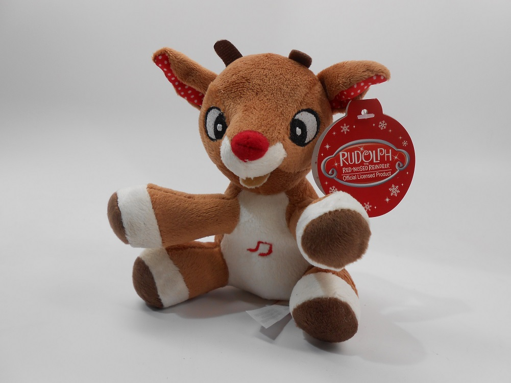 Rudolph, The Red-Nosed Reindeer, MUSICAL 5 inch (12.7 cm) Plush Toy by unknown
