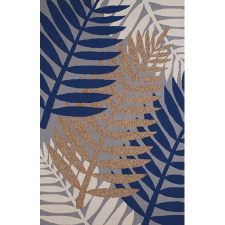 Designer Home Rover Area Rugs - 1501-22350 Contemporary Brown Palm Leaves Petals Trees -