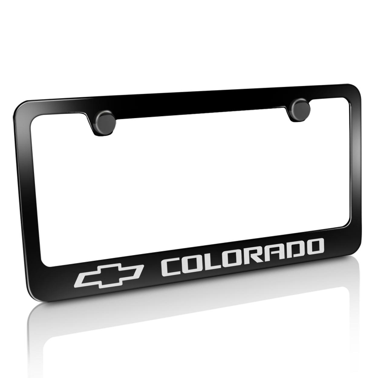 Chevrolet Colorado Black Metal License Plate Frame