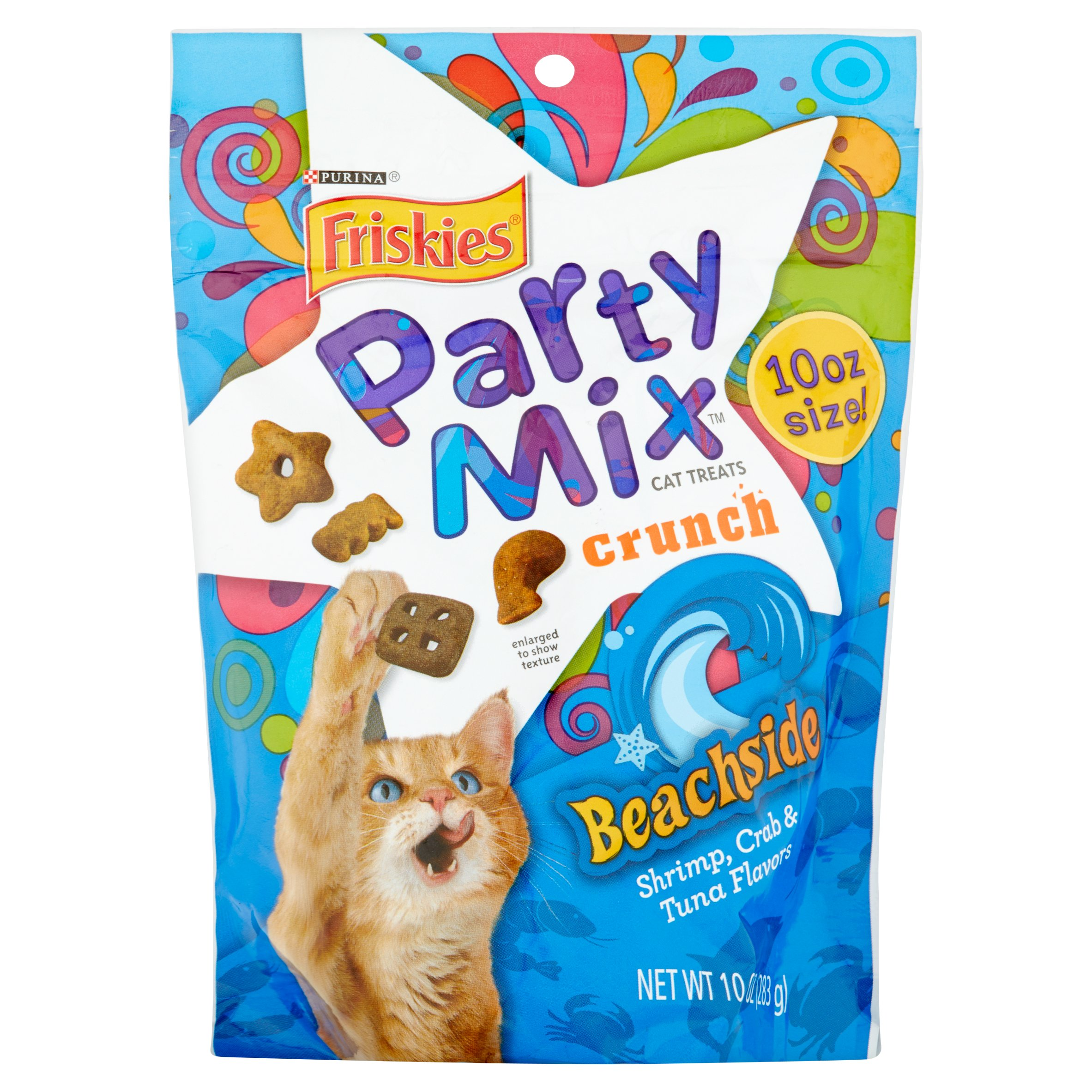 Purina Friskies Party Mix Original Crunch Cat Treats 20 Oz Makanan Kucing Leandro Canister