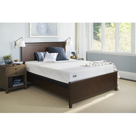 Sealy Treat Cushion Firm Twin Size Mattress and Low Profile Box ...