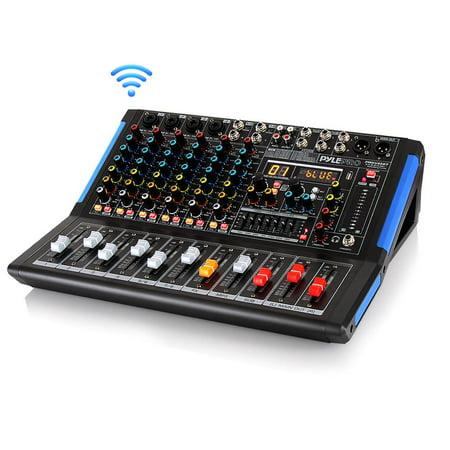 PYLE PMXU88BT - 8-Ch. Bluetooth Studio Mixer - DJ Controller Audio Mixing Console