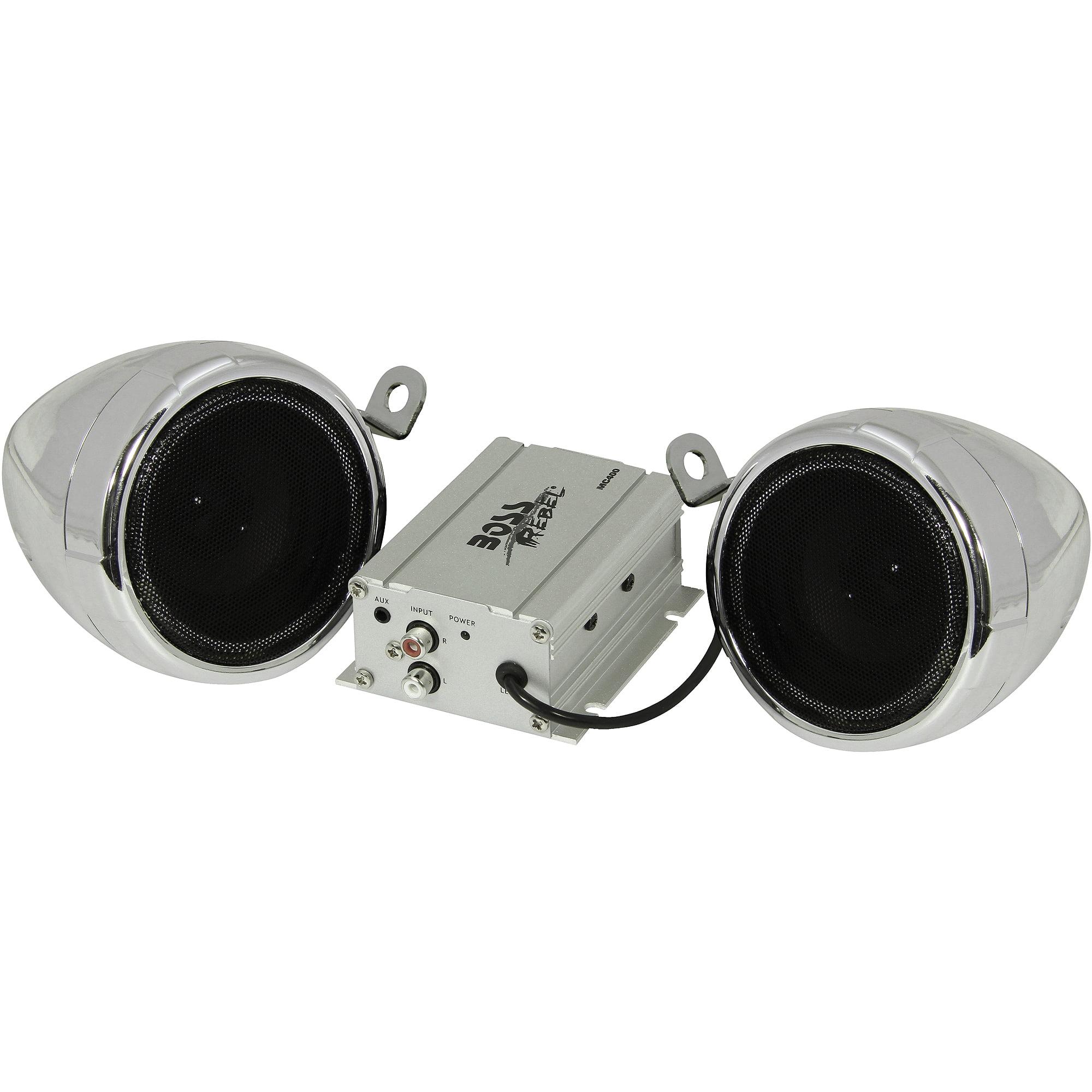 "Boss Audio MC400 Amplified 3.0"" Weatherproof ATV Speakers"