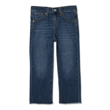 Signature by Levi Strauss & Co. Girls' High Rise Ankle Straight Jeans, Sizes 5-18