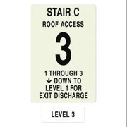 INTERSIGN NFPA-PVC1812(C1A3) NFPASgn,Stair Id C,Floors Served 1 to 3 G0263271