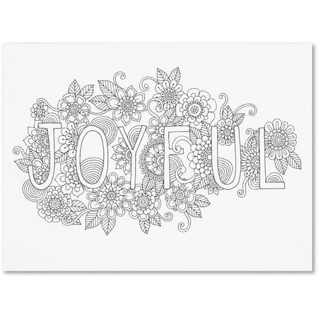 Trademark Fine Art u0022Letters and Words 7u0022 Canvas Art by Hello Angel
