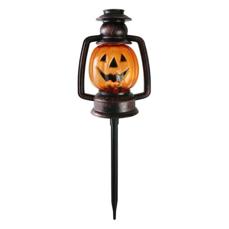 Set of 3 Flickering Halloween Pumpkin Lantern Pathway Markers