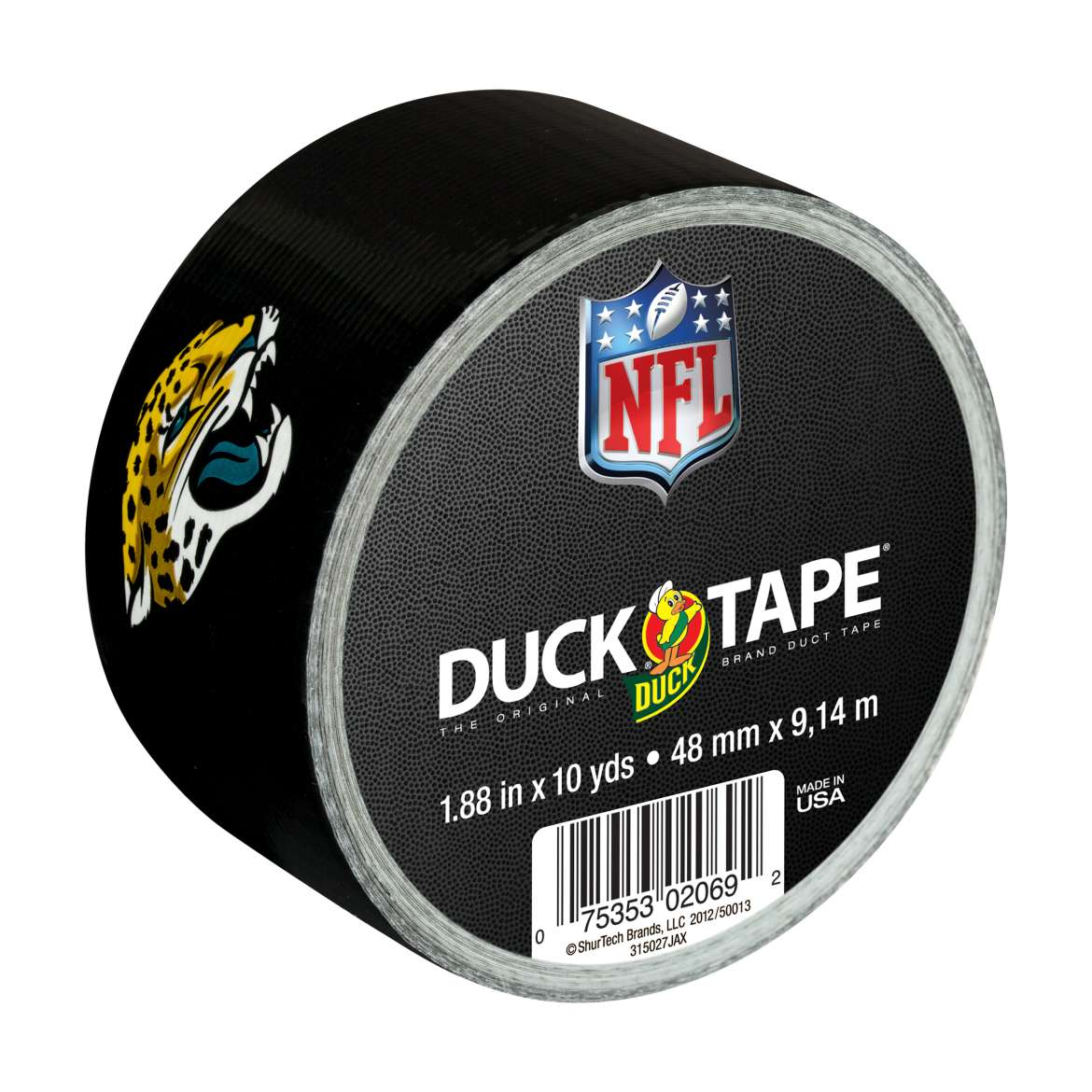 "Duck Brand Duct Tape, NFL Duck Tape, 1.88"" x 10 yard, Jacksonville Jaguars"