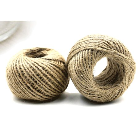 500' Feet Natural Jute Twines String Rope Roll Ball Refill Hobby Craft (Ball String)