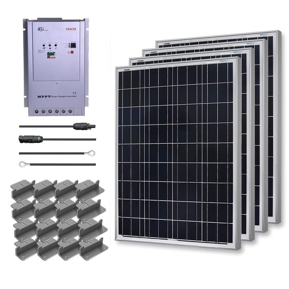 Renogy Premium Solar Kit: 400W Polycrystalline 12V with 4...