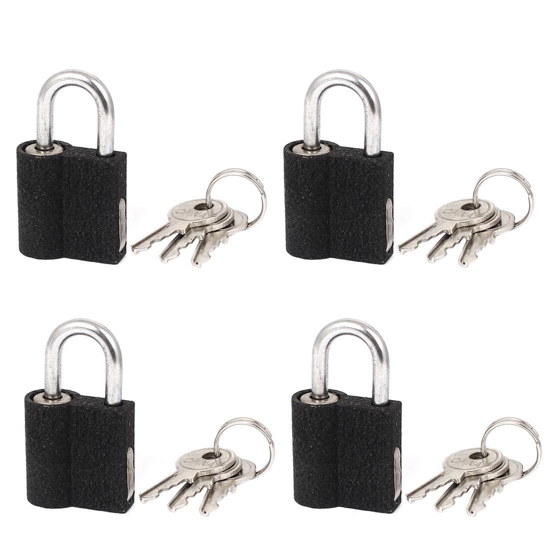4pcs Metal Security Lock Drawer Gate Door Padlock with key 4.2cm x 2.5cm