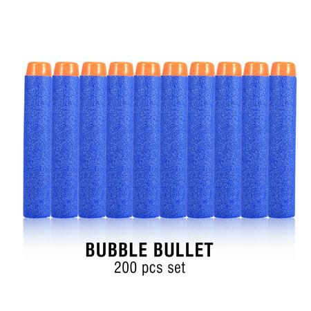 Knifun Refill Bullet Darts 200pcs Refill Mega Blow Darts Blasters for N-Strike Elite, Compatible Foam Toy Darts, Modulus Glow Elite Darts for Kids, Universal Dart Ammo Pack, - Mega Toys
