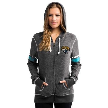"Jacksonville Jaguars Womens Majestic NFL ""Athletic"" Full Zip Hooded Sweatshirt by"