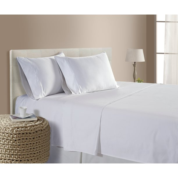 Luxury 100 Egyptian Cotton 800 Thread Count Sheet Set Addy Home Fashions White Queen Walmart Com Walmart Com