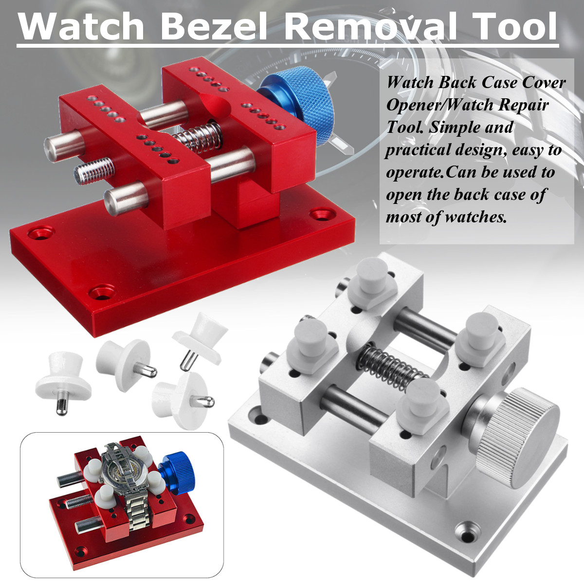 Watch Bezel Removal Tool Workbench Back Case Opener Tool for Rlx Tudo Max. 45mm