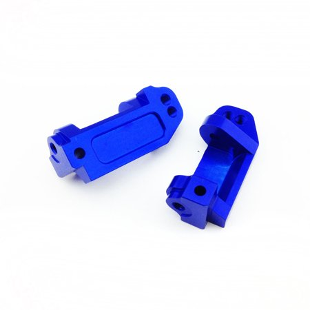 Traxxas Monster Jam 1:10 Aluminum Alloy Caster Block Hop Up Upgrade, Blue by Atomik RC - Replaces Traxxas Part 3632 (Traxxas Aluminum Caster Blocks)