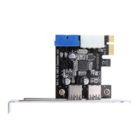 LYUMO PCI-E To USB3.0 Expansion Card Adapter With Front 19PIN Interface, PCI-E To USB3.0 Expansion Card,PCI-E To USB3.0