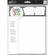 Create 365 Note & Graph Paper 40 Sheets/Pkg-White