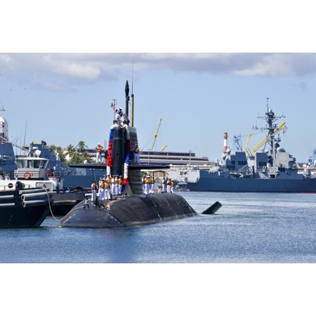 LAMINATED POSTER The Japan Maritime Self-Defense Force (JMSDF) submarine JDS Unryu (SS 502) arrives in Hawaii for a r Poster Print 24 x 36